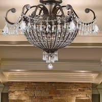 Crystorama Vanderbilt Collection 6-light English Bronze Flush Mount