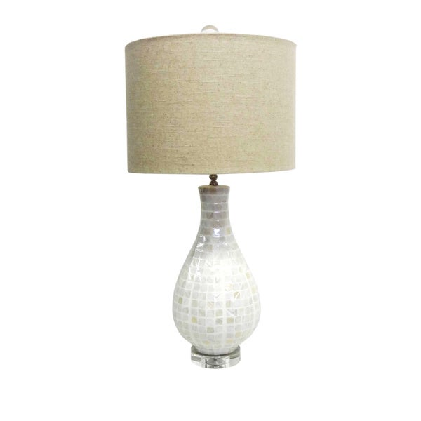 Mother of Pearl Teardrop Table Lamp