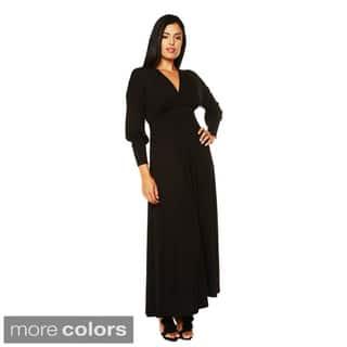 24/7 Comfort Apparel Women's Long Sleeve Empire Maxi Dress|https://ak1.ostkcdn.com/images/products/8493878/24-7-Comfort-Apparel-Womens-Long-Sleeve-Empire-Maxi-Dress-P15780686.jpg?impolicy=medium