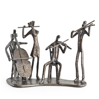 Musician Quartet on Base Bronze Sculpture
