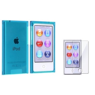INSTEN Clear Blue iPod Case Cover/ Screen Protector for Apple iPod nano 7