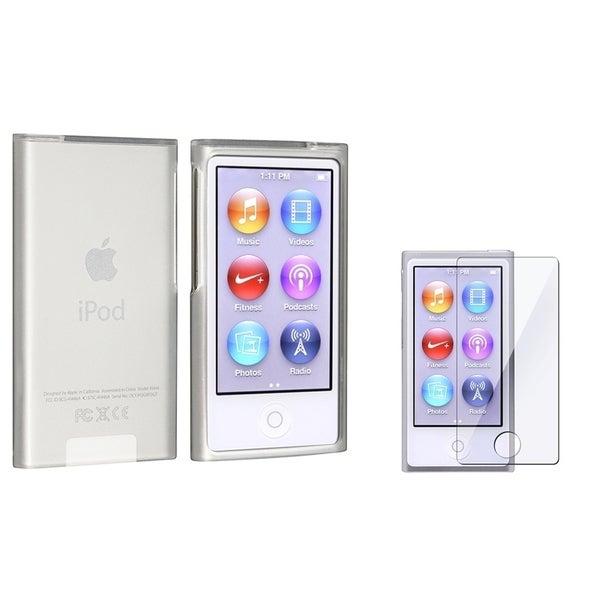 INSTEN Frost White TPU iPod Case Cover/ Screen Protector for Apple iPod nano 7