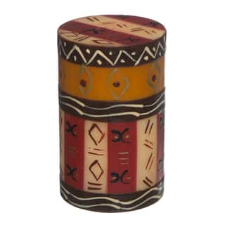 Single Boxed Handmade Pillar Candle with Bongazi Design (South Africa)|https://ak1.ostkcdn.com/images/products/8494119/P15780849.jpg?impolicy=medium