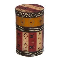 Single Boxed Handmade Pillar Candle with Bongazi Design (South Africa)