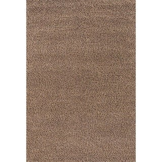 Lagash Chocolate/ Camel Wool Rug (5'6 x 8')