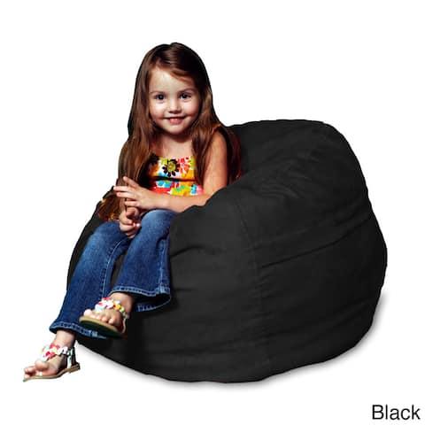 Memory Foam Micro Suede Kids Beanbag Chair for
