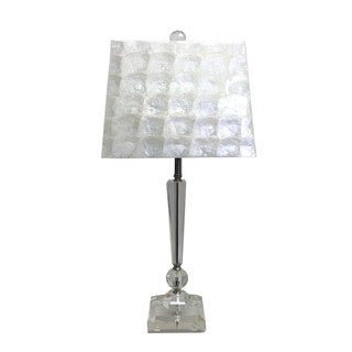 Mother of Pearl Shade Crystal Table Lamp