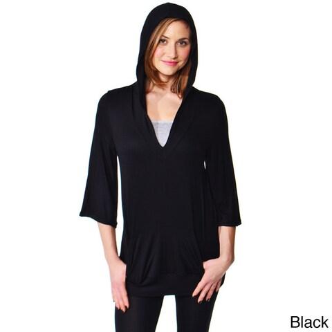 24/7 Comfort Apparel Women's Slip-on Hoodie Top