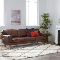 Carson Carrington Elsinore Chocolate Leather Sofa
