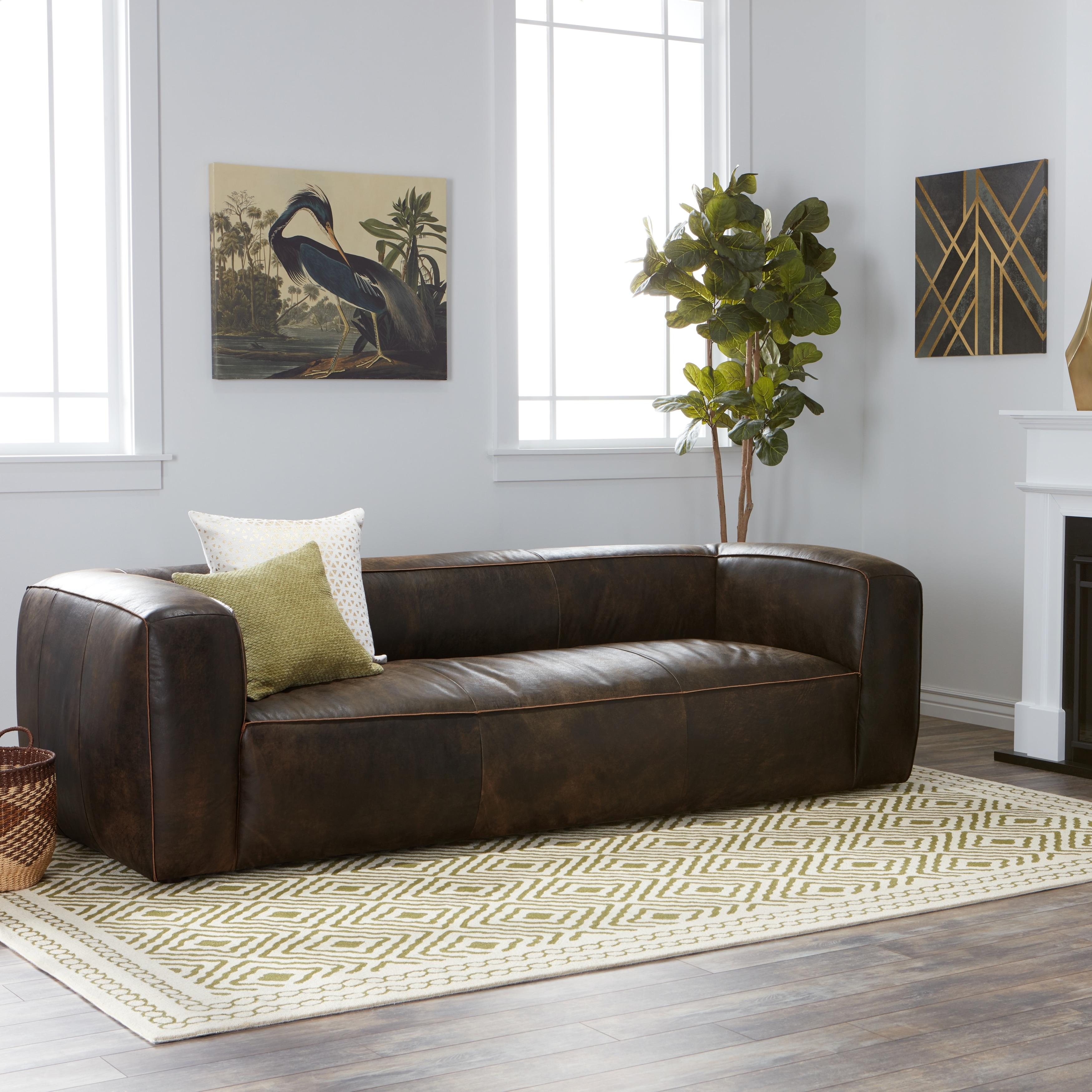 Strick & Bolton Diva Outback Bridle Dark Brown Leather Sofa