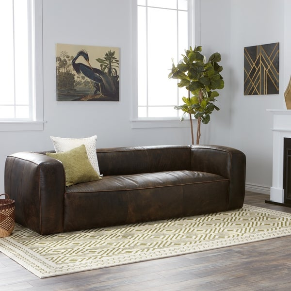 Shop Strick & Bolton Diva Outback Bridle Dark Brown Leather Sofa ...