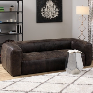 Diva Outback Bridle Dark Brown Leather Sofa