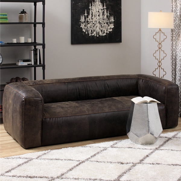 Diva Outback Bridle Dark Brown Leather Sofa Free