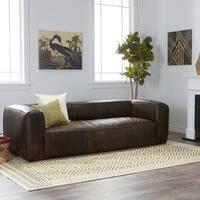Oliver & James Diva Outback Bridle Dark Brown Leather Sofa