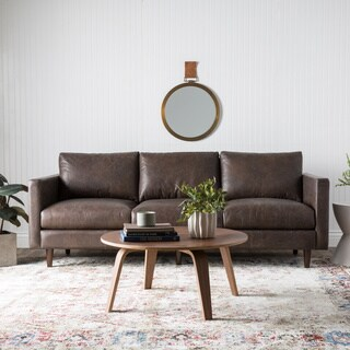 Carson Carrington Sax Oxford Brown Leather Sofa