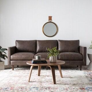 Jasper Laine Sax Oxford Brown Leather Sofa