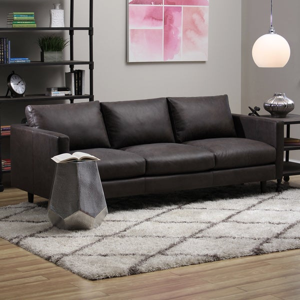 Sax Oxford Brown Leather Sofa - Free Shipping Today - Overstock.com -  15780995 - Sax Oxford Brown Leather Sofa - Free Shipping Today - Overstock