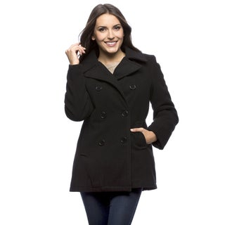 Excelled Women's Double Breasted Pea Coat (4 options available)