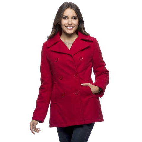 Excelled Women's Double-breasted Pea Coat