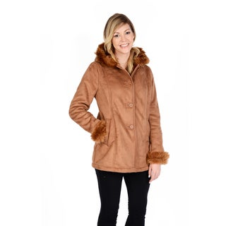 Excelled Women's Shearling Coat (Option: Brown)