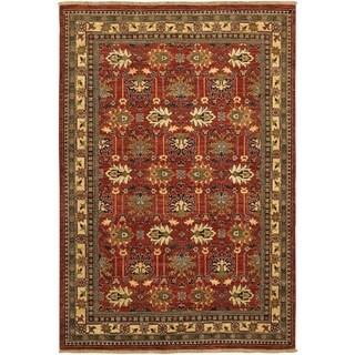 Lahore Antique Kazak/ Reddish Clay 3'6x 5'6 Rug