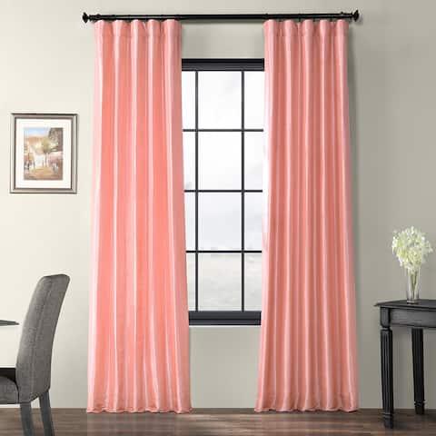 Exclusive Fabrics Flamingo Pink Faux Silk Taffeta Curtain Panel