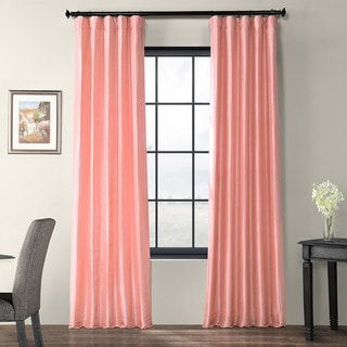 Exclusive Fabrics Flamingo Pink Faux Silk Taffeta Curtain Panel