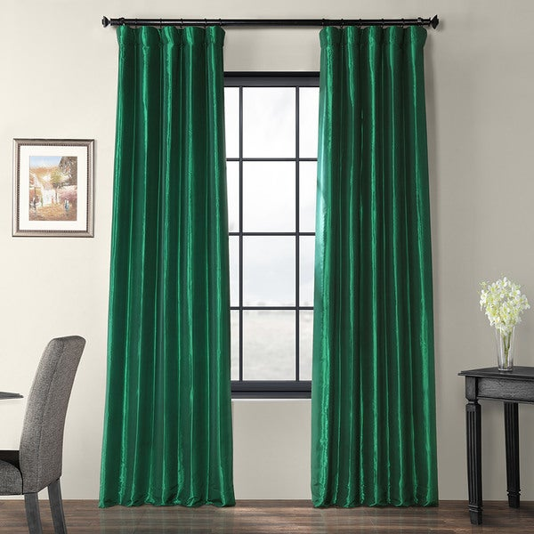 Shop Exclusive Fabrics Emerald Green Faux Silk Taffeta