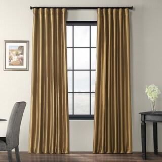 Exclusive Fabrics Gold Nugget Faux Silk Taffeta Curtain Panel