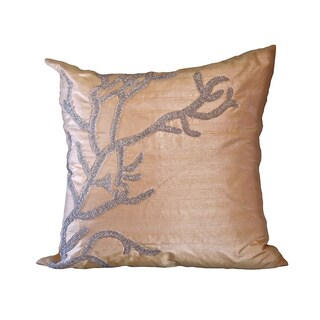 Champagne Square Feather Filled Reef Pillow (As Is Item)