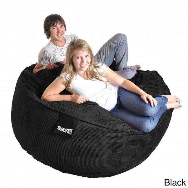 6 Foot Round Corduroy Microfiber Suede And Memory Foam Giant Bean Bag Chair