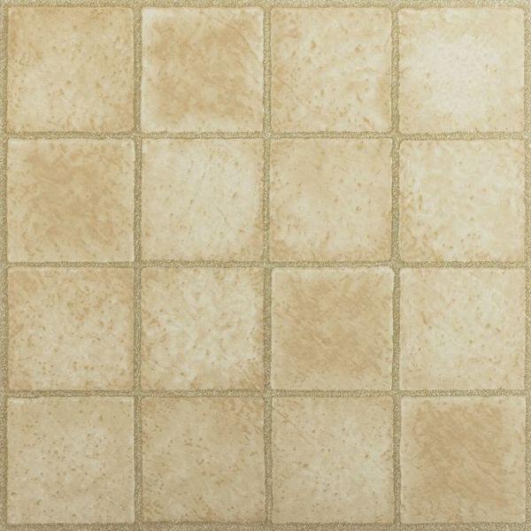 Nexus 16 square sandstone 12x12 self adhesive vinyl floor for 12x12 vinyl floor tile