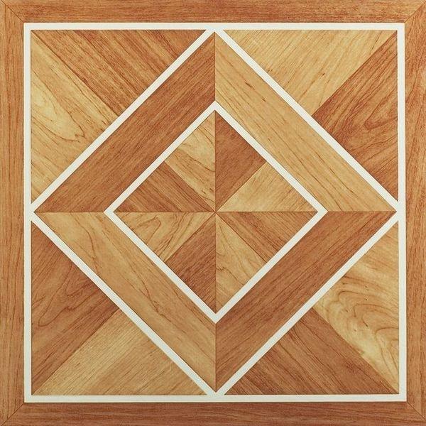 Nexus white border classic inlaid parquet 12x12 self for 12x12 vinyl floor tile