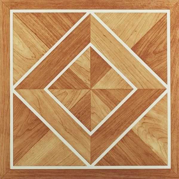 Shop Achim Nexus White Border Classic Inlaid Parquet 12x12 Self