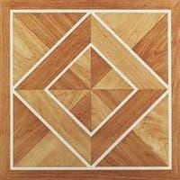 Achim Nexus White Border Classic Inlaid Parquet 12x12 Self Adhesive Vinyl Floor Tile - 20 Tiles/20 sq. ft.
