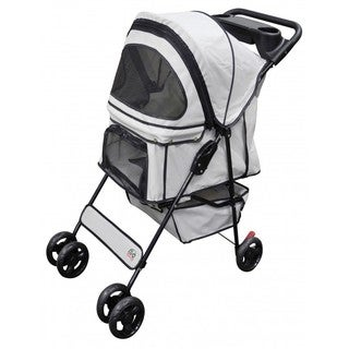 Go Pet Club Light Gray Pet Stroller