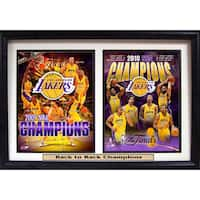 NBA Champions LA Lakers 12 X 18 Double Print Custom Frame