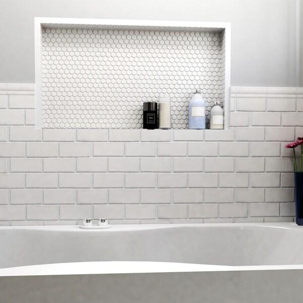Somertile 2 875x5 875 Inch Artic Craquelle White Ceramic