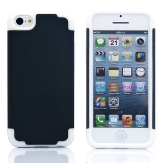Gearonic 2 Piece Hybrid Hard PC Silicone Rubberized Case For iPhone 5C