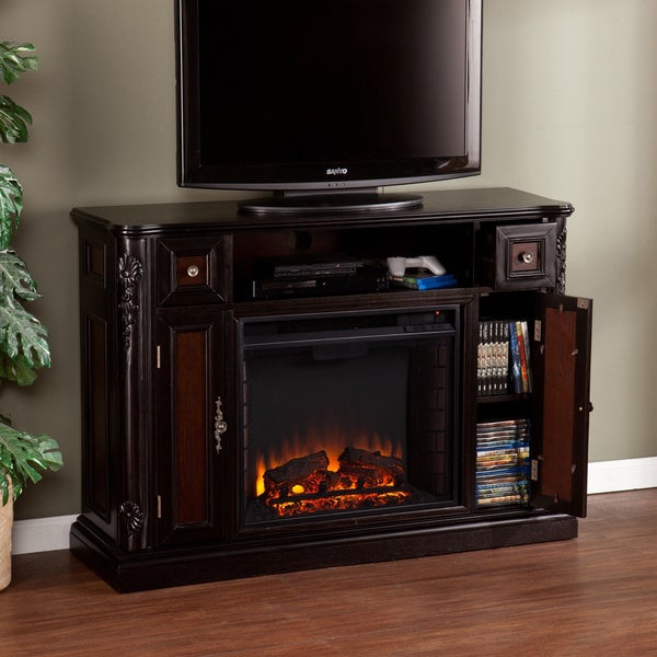 Harper Blvd Ellis Ebony Media Console/ Stand Electric Fireplace  Fireplace Media Stand