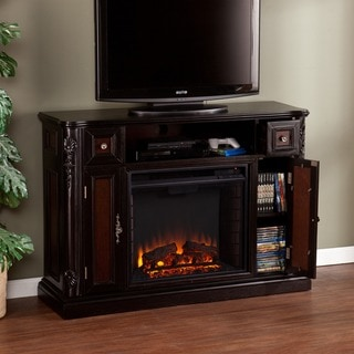 Harper Blvd Ellis Ebony Media Console/ Stand Electric Fireplace