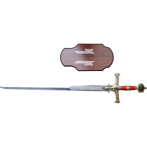 45-inch King Solomon Medieval Sword with Wood Plaque