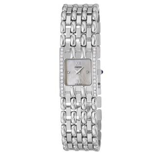 Concord 'Veneto' Women's 18-karat-white-gold Diamond-accented Swiss-quartz Watch