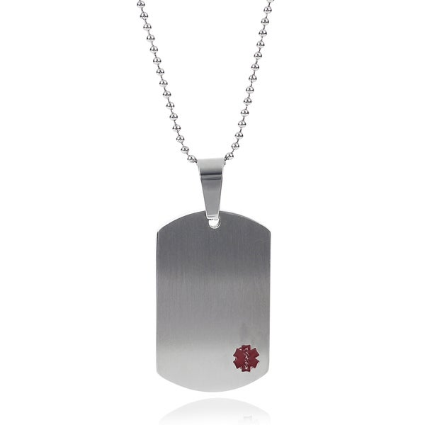 Journee Collection Stainless Steel Medical Alert Necklace