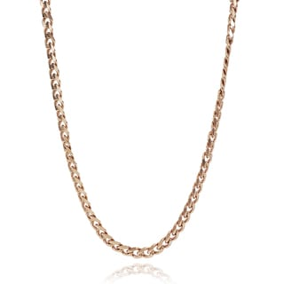 Journee Collection Stainless Steel Curb Chain Necklace