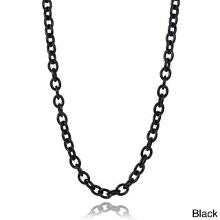 Journee Collection Stainless Steel Chain Link Necklace (2 options available)