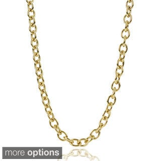 Journee Collection Stainless Steel Chain Link Necklace