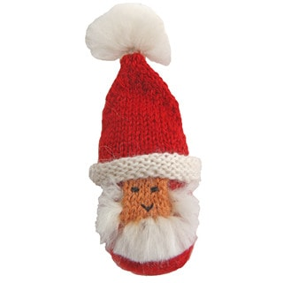 Alpaca Puffy Santa Ornament (Peru)