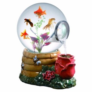 Shop Magic Globe Honey Rose Waterfall Aquarium Free