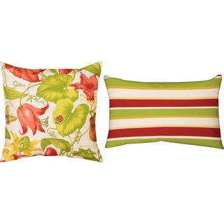 Arabel Lindy Indoor/ Outdoor Decorative Throw Pillows (Set of 2)